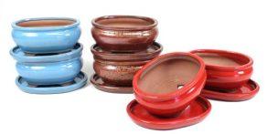 BASIC Tiesto oval 15 cm con plato colores