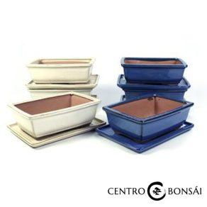BASIC Tiesto rectangular 20 cm con plato colores