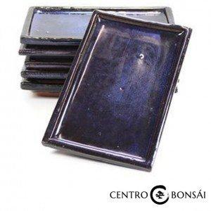 Plato rectangular 15 cm azul