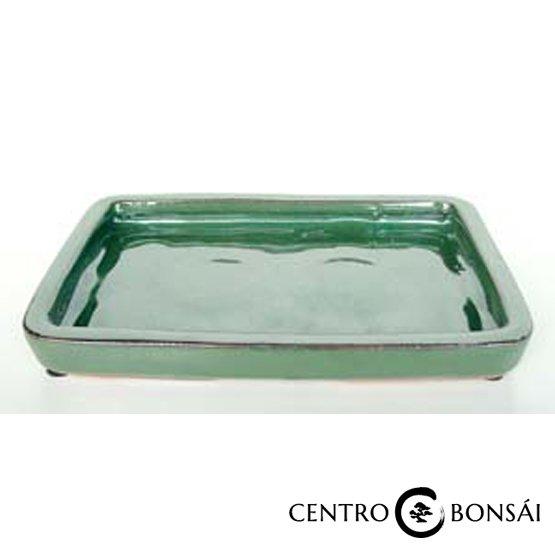 Plato rectangular 16 cm verde