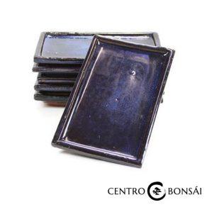 Plato rectangular 20 cm azul