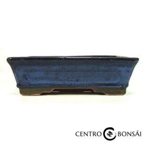 Tiesto rectangular 25 cm azul